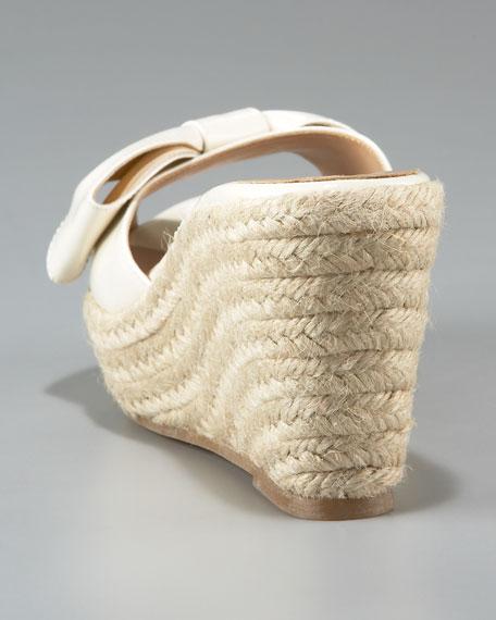 Mena Patent Espadrille Slide, Ivory