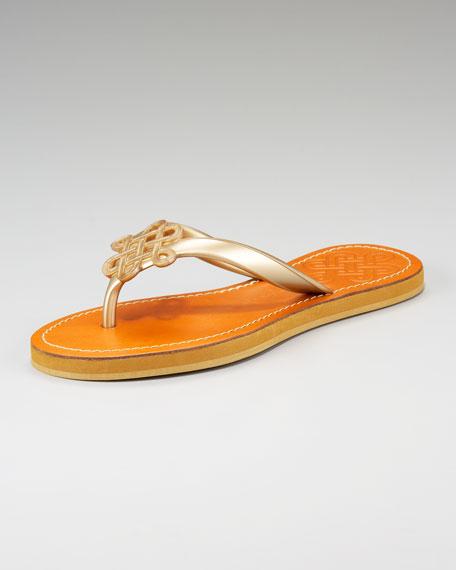Rubber Love-Knot Thong Sandal