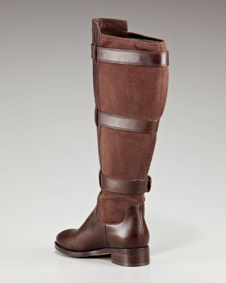 Air Avalon Tall Stretch Boot, Dark Chocolate