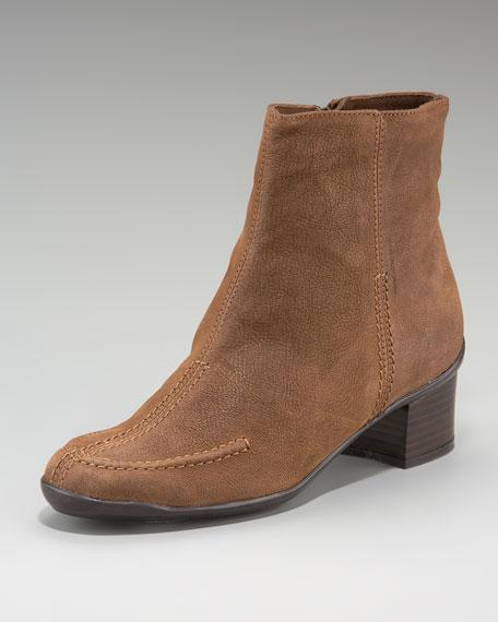Mid-Heel Ankle Boot