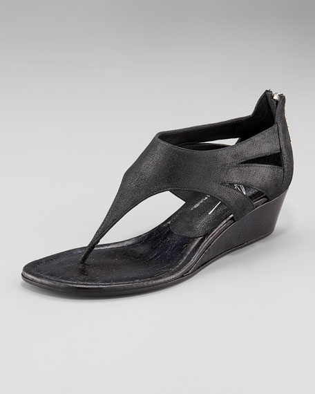 Low-Wedge Thong Sandal