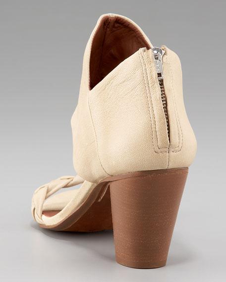 Mid-Heel Ankle Cuff Sandal