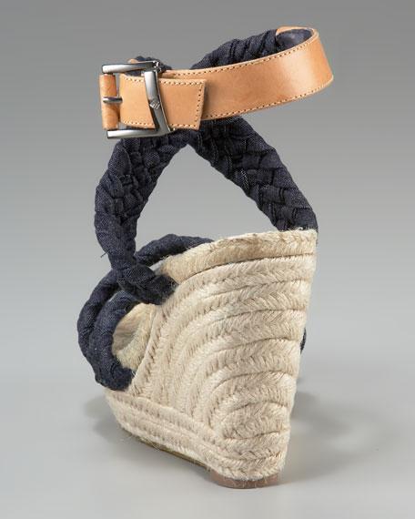Jules Woven Ankle-Wrap Espadrille
