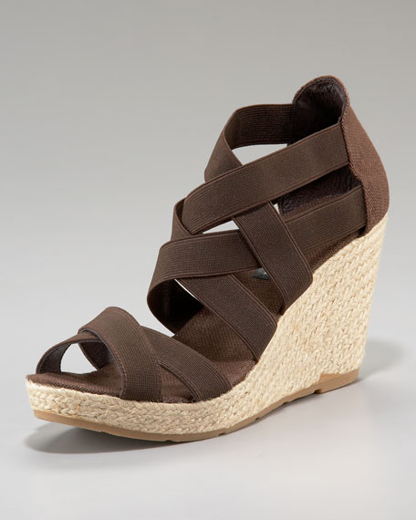Stretch Elastic Espadrille Wedge