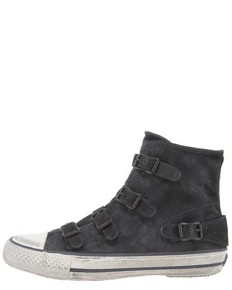 Buckled Suede Sneaker