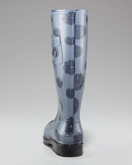 Lace-Up Rain Boot
