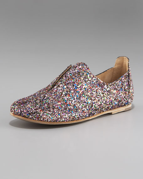 Glitter Slip-On Oxford