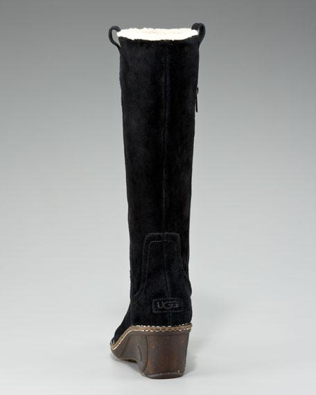 Hartley Suede Wedge Boot