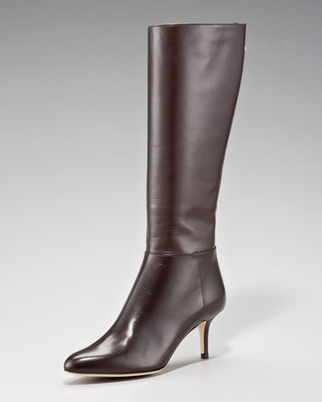 Kent Fitted Almond-Toe Boot