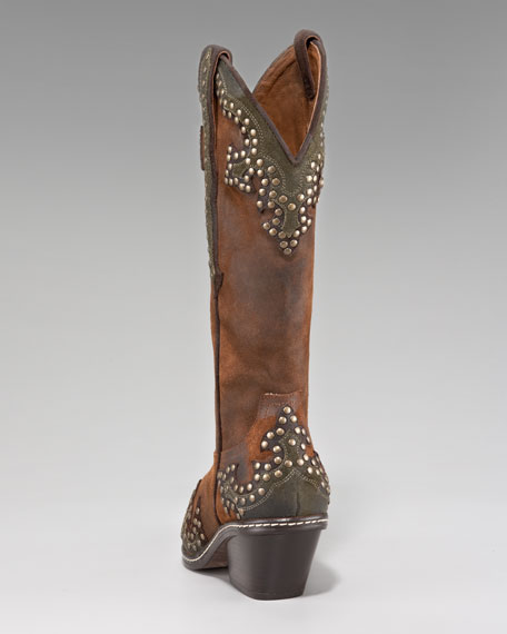 Studded Western Boot