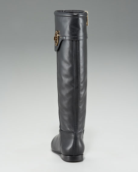 Selma Logo Flat Knee Boot
