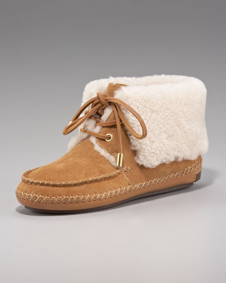 Nathan Flat Shearling Bootie