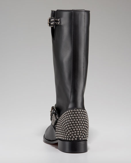 Studded Motorcycle Boot
