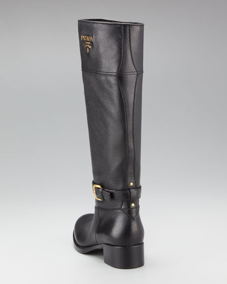 Tall Logo Riding Boot