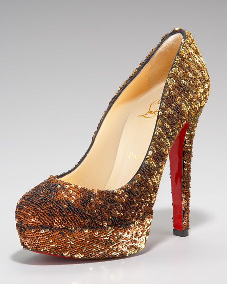 Bianca Sequined Platform Pump