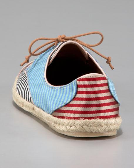Striped Silk Espadrille Sneaker
