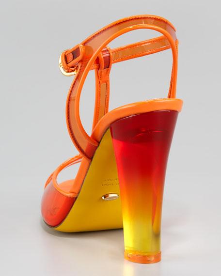 PVC T-Strap Sandal