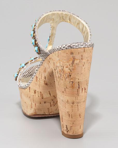 Ayers Embellished T-strap Slide Sandal