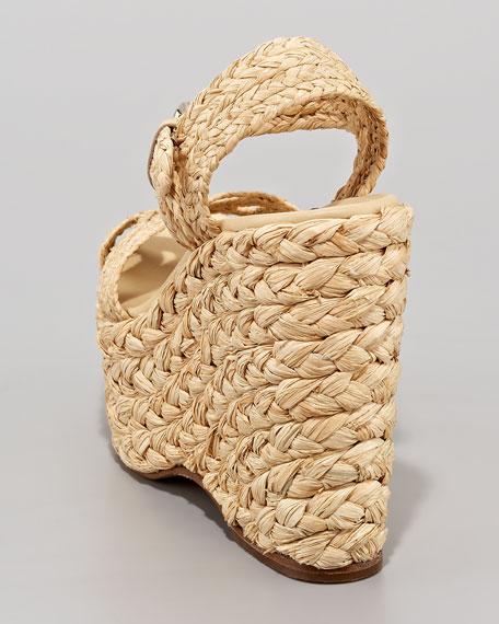 Eralita Raffia Platform Sandal