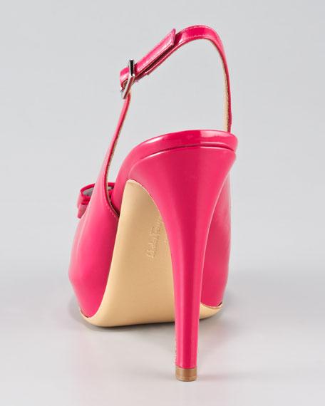 Bloomy Peep-Toe Slingback