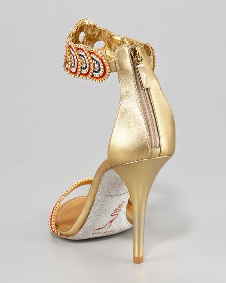 Ankle-Wrap Zip Sandal