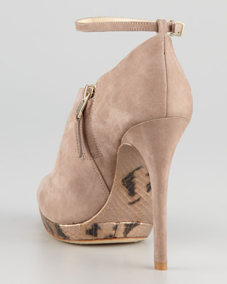 Snake-Sole Ankle Bootie