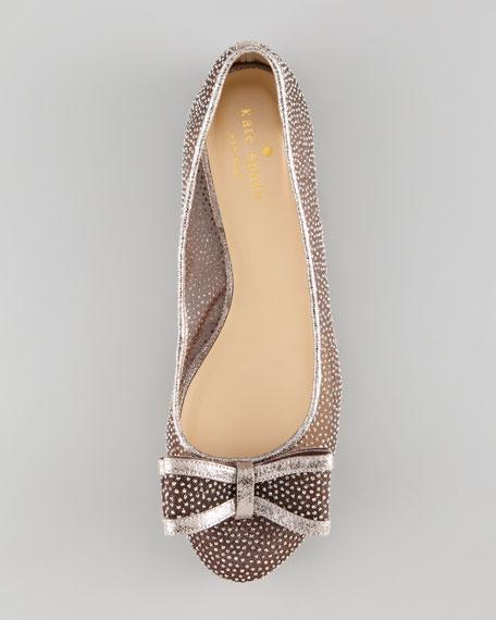 bernice glitter dot ballerina flat