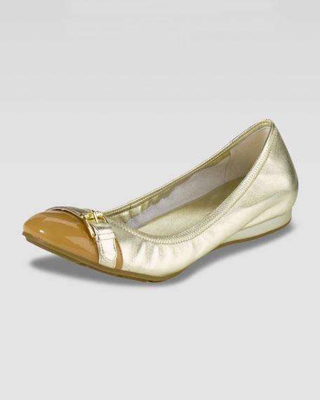 Air Reesa Buckle Cap-Toe Ballerina Flat