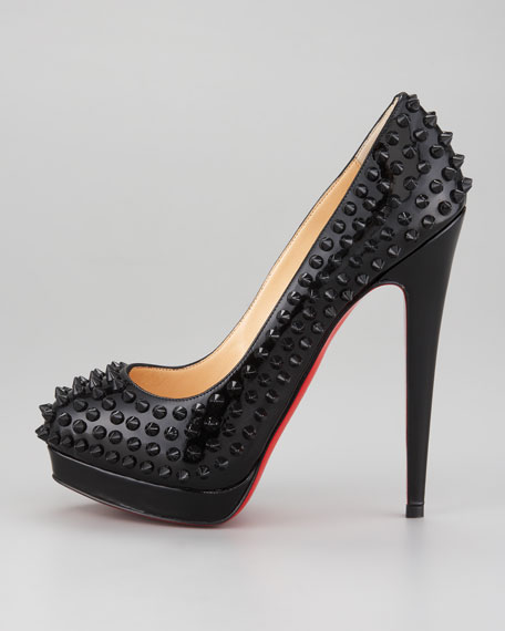 Alti Spiked Red Sole Pump