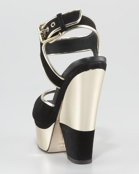 Platform Ankle-Strap Sandal