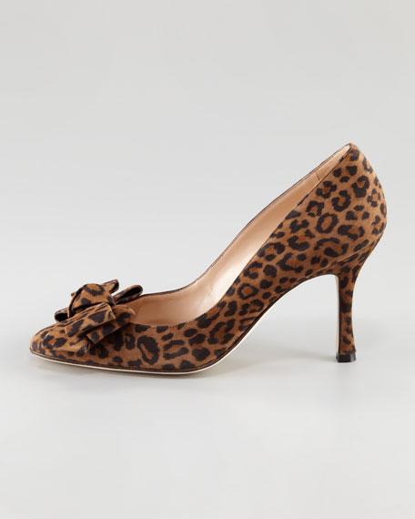 Lisa Leopard-Print Suede Pump