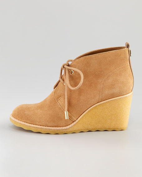 Vikki Lace-Up Wedge Bootie
