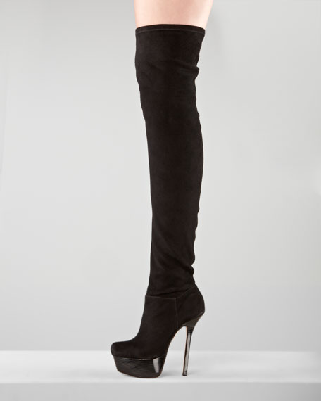 Luke Suede Over-The-Knee Boot