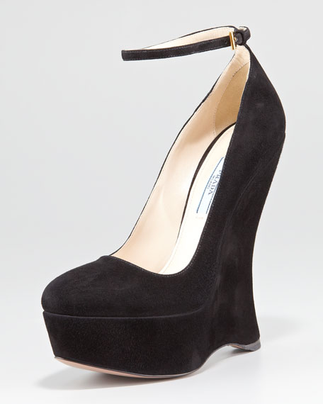 Ankle Strap Wedge Pump
