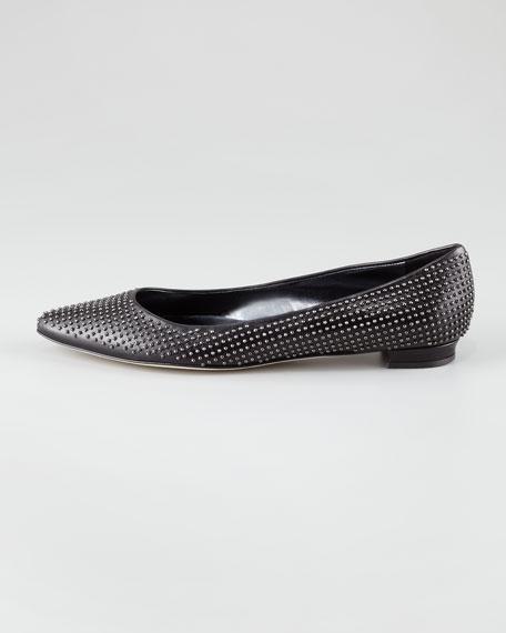 Tittobo Studded Pointed-Toe Ballerina