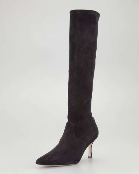Pascalare Stretch Suede Tall Boot