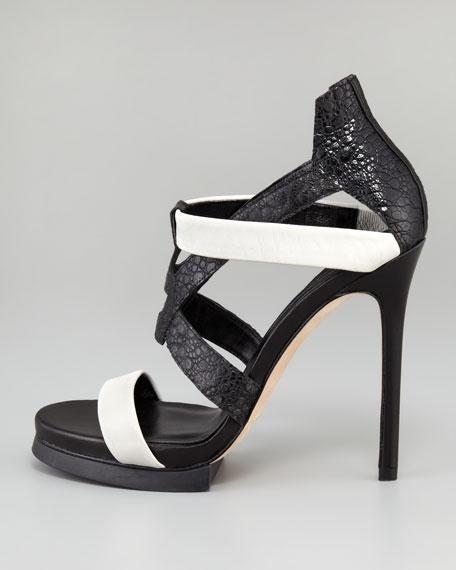 Corner Two-Tone Sandal