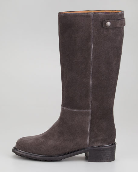 Jocelyn Lug-Sole Suede Boot