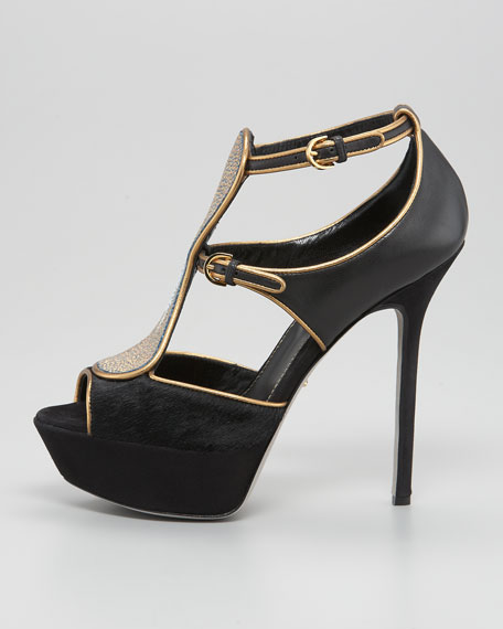 Stingray T-Strap Gladiator Pump