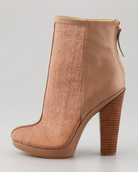 Maddy Raffia Ankle Bootie