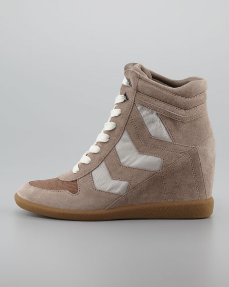 Bennett Velour Wedge Sneaker