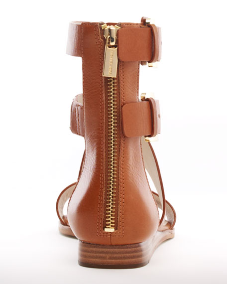 Josephine Flat Leather Sandal