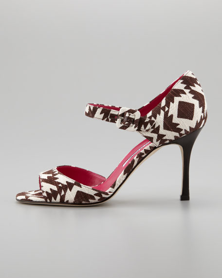 Caldo Printed Mary Jane Pump