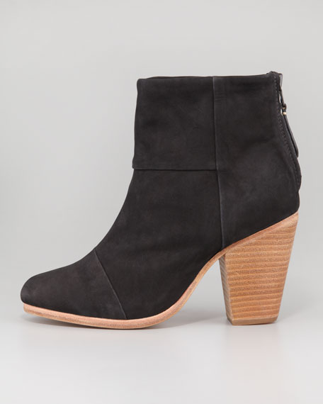 Newbury Suede Leather Ankle Boot, Black
