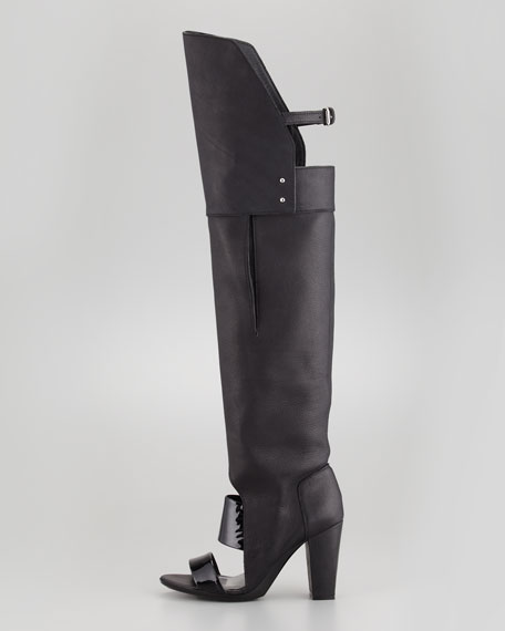 Runway Ora Over-the-Knee Boot, Black