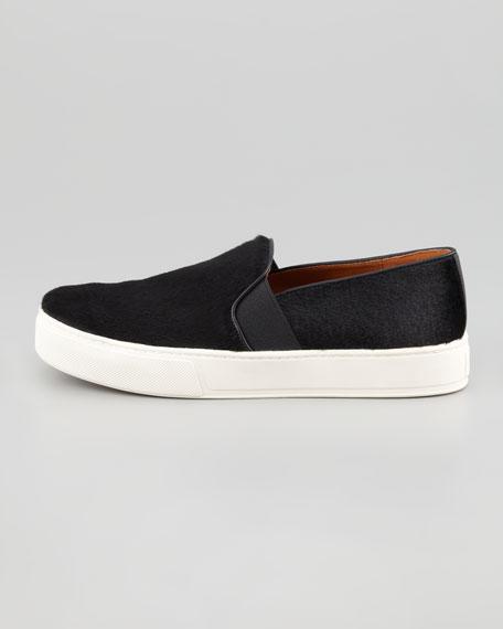 Calf Hair Slip-On Sneaker
