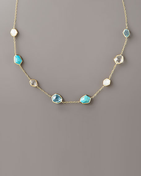 "Pacific Faceted Eight-Stone Necklace, 18""L"