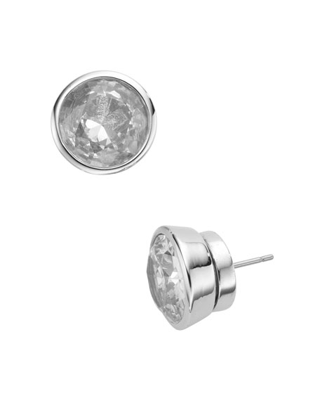 Crystal Stud Earrings, Clear