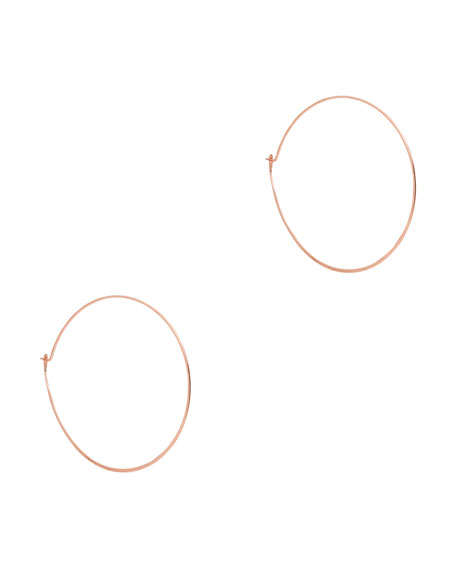 Whisper Medium Hoop Earrings, Rose Golden