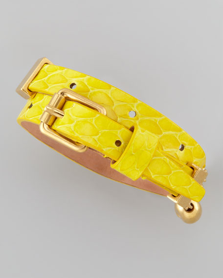 Chain Snake Wrap Bracelet, Bright Yellow